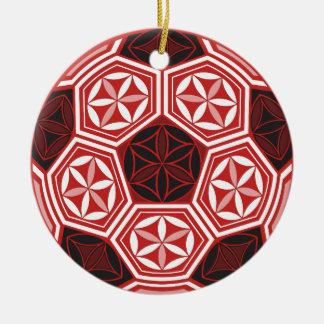 heilige Geometrie des Fußballs Keramik Ornament