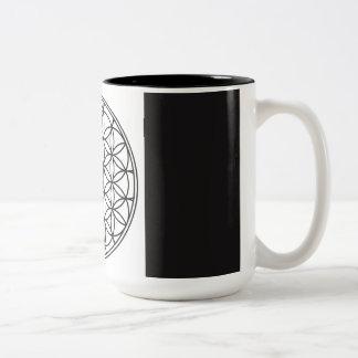 Heilige Geometrie-Kaffee-Tasse Zweifarbige Tasse