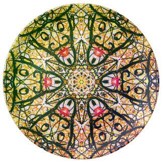 """Heilige Geometrie """"Quijote"""" Porzellan-Platte"""" bis Teller"""