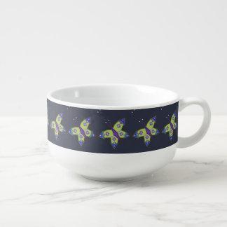"Heilige Geometrie ""Schmetterlings-"" Suppen-Tasse Große Suppentasse"