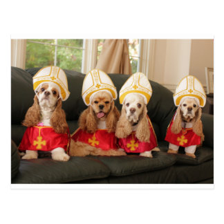 Heilige Jagdhund-Konklave Postkarte