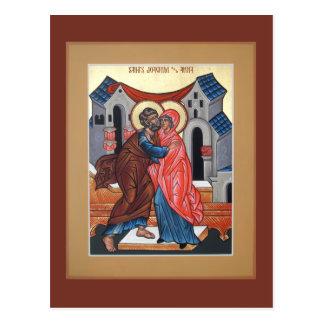 Heilige Joachim und Anna-Gebets-Karte Postkarte