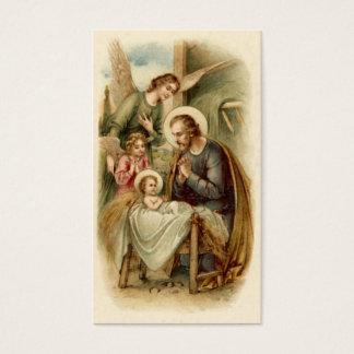 Heilige Karten (Zitat): St- JosephGeburt Christi
