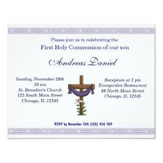 Heilige Kommunion 10,8 X 14 Cm Einladungskarte