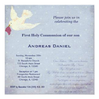 Heilige Kommunion Quadratische 13,3 Cm Einladungskarte