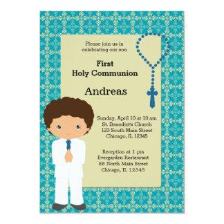 Heilige Kommunions-Junge 12,7 X 17,8 Cm Einladungskarte