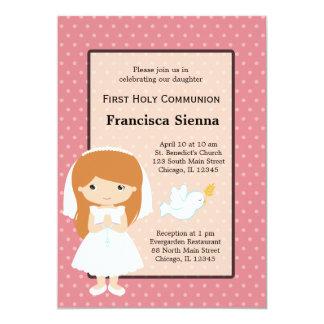 Heilige Kommunions-Mädchen * wählen Sie Ihre 12,7 X 17,8 Cm Einladungskarte
