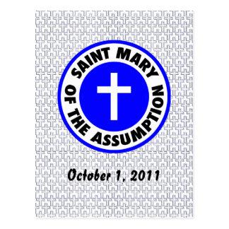 Heilige Maria der Annahme Postkarte