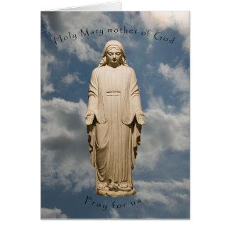 Heilige Mary-Mutter des Gottes, beten für uns Karte