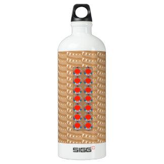 Heilige Tempel-Kunst: Goldene prägeartige Rot Wasserflasche