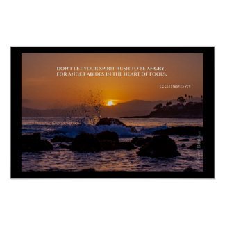 """Heilige Wörter"": Ecclesiastes 7:9 Poster"