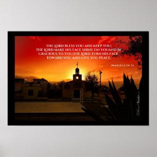 """""""Heilige Wörter"""": Nummeriert 6:24 - 26 Poster"""