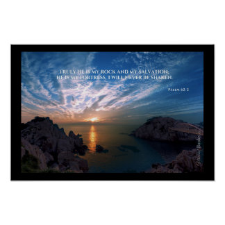 """Heilige Wörter"": Psalm-62:2 Poster"