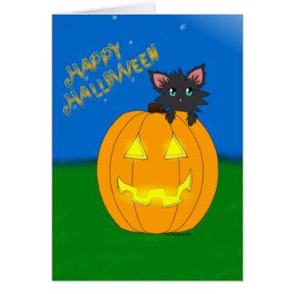 Heiligen Sie Miezekatze-glückliche Halloween-Karte Karte