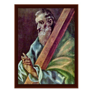 Heiliger Apostel Andrew durch Greco EL Postkarte