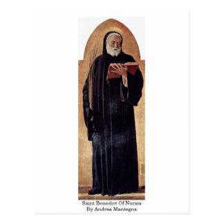 Heiliger Benedict von Nursia durch Andrea Mantegna Postkarte