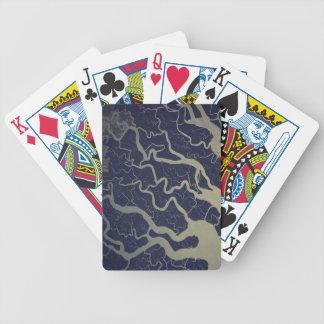 Heiliger Fluss der Ganges Indiens Spielkarten