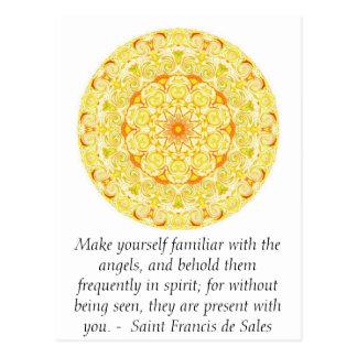Heiliger Franziskus de Sales QUOTE über Engel Postkarte