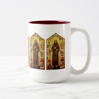 Heiliger Franziskus von Assisi-Renaissance Zweifarbige Tasse