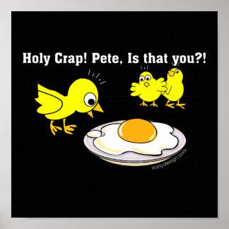 Heiliger Mist! Peter. Lustige Eier Poster