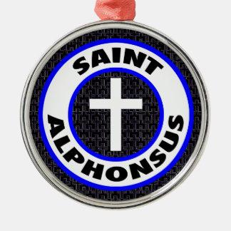 Heiliges Alphonsus Rundes Silberfarbenes Ornament
