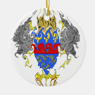Heiliges Barthelemy Gnarly Flagge Rundes Keramik Ornament