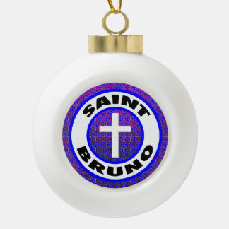 Heiliges Bruno Keramik Kugel-Ornament