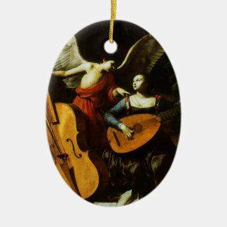 Heiliges Cecilia und der Engel durch Carlo Keramik Ornament