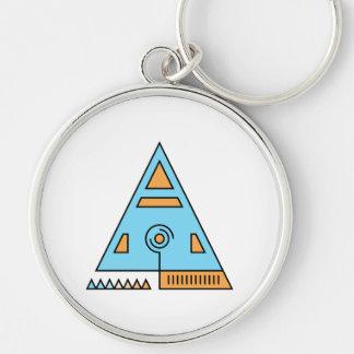 Heiliges Dreieck Silberfarbener Runder Schlüsselanhänger
