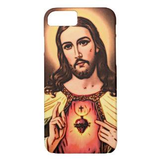 Heiliges Herz der Jesus-Farbbleistift-Kunst iPhone 8/7 Hülle