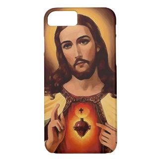 Heiliges Herz des Jesus-Aquarell-Druckes iPhone 8/7 Hülle