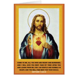 Heiliges Herz Karte