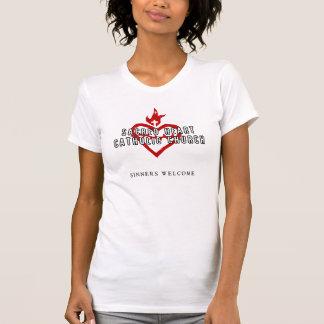 Heiliges Herz-katholische Kirchen-Weiß-Shirt T-Shirt