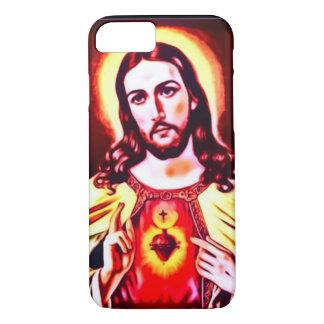 Heiliges Herz von Jesus-Kunst Nouveau Druck iPhone 8/7 Hülle
