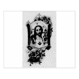 Heiliges Herz von Jesus mit Lamm Gummistempel