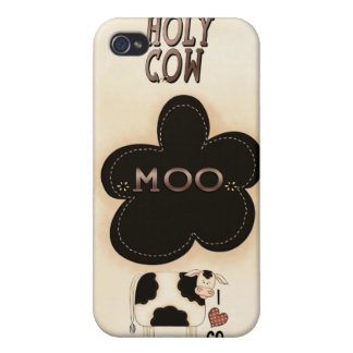 Heiliges iPhone 4 Kasten Kuh-MOO Speck® Fitted™ iPhone 4 Schutzhülle