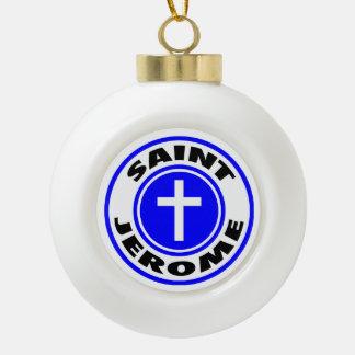 Heiliges Jerome Keramik Kugel-Ornament
