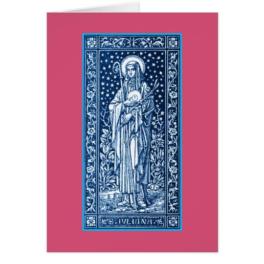 Heiliges Juliana Falconieri Gruß-Karte Grußkarte