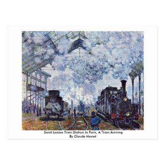 Heiliges Lazare Bahnstation in Paris Postkarte