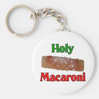Heiliges Makkaroni Standard Runder Schlüsselanhänger