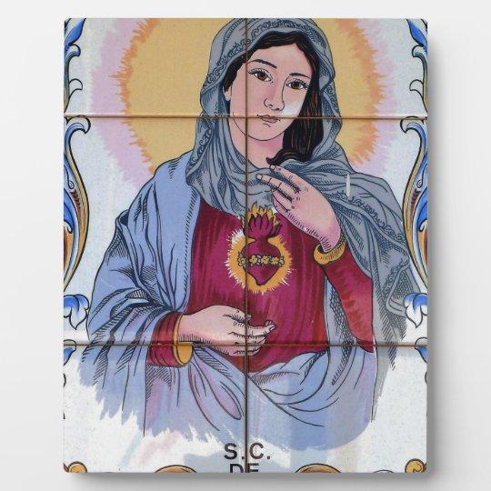 Heiliges Maria in der katholischen Kirche Fotoplatte