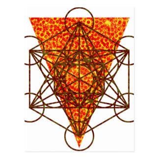 heiliges pizzametry postkarte