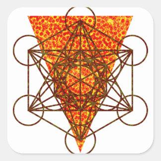 heiliges pizzametry quadratischer aufkleber