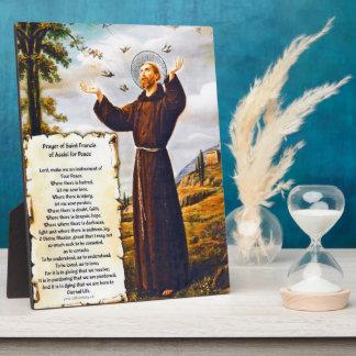 Heiliges St Francis einfachen Gebets Assisis für Fotoplatte