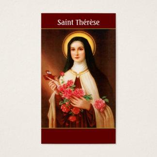 Heiliges Thérèse der Lisieux Gebets-Karten Visitenkarte