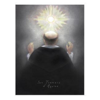 Heiliges Thomas von Aquin Postkarte