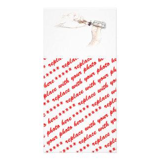 Heimwerker-Hände mit Schraubenzieher Herr Verlege Personalisierte Foto Karte