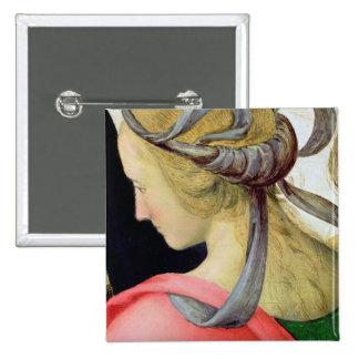 Heirat der Jungfrau, Detail, das ein von zeigt Quadratischer Button 5,1 Cm