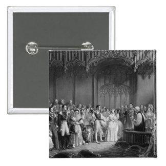 Heirat der Königin Victoria und Prinz Albert Quadratischer Button 5,1 Cm