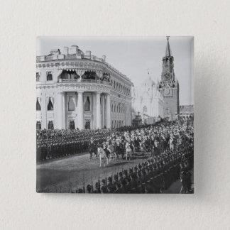 Heirat des Zars Nicholas (1868-1918) zu Alexandra Quadratischer Button 5,1 Cm